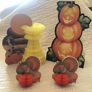 Honeycomb Thanksgiving Turkey fall Corn pumpkin